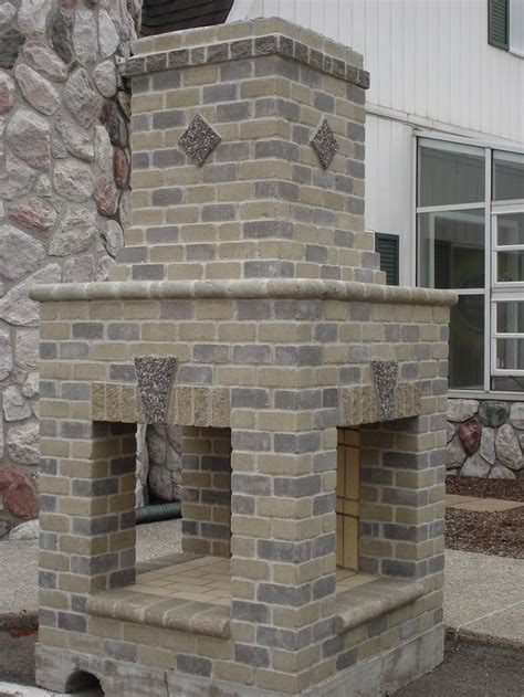sided outdoor fireplace image detail for sided brick and mortar outdoor