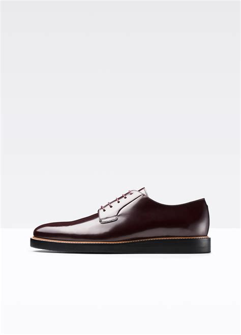 purple oxford shoes vince oxford shoe in purple for cordovan lyst