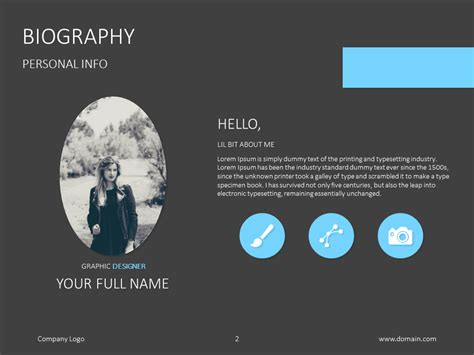 Powerpoint Evaluation Google Style Powerpoint Presentation Template Powerpoint Biography Template