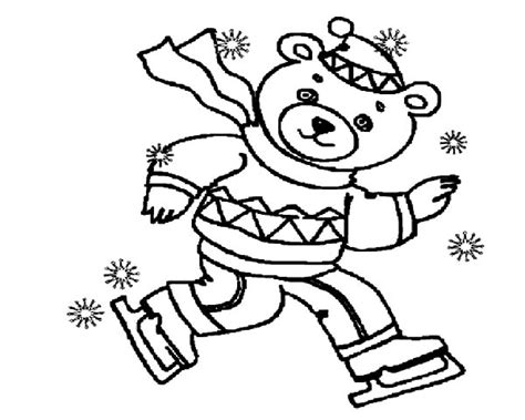 ice bear coloring page 98 winter bear coloring page masha and the bear