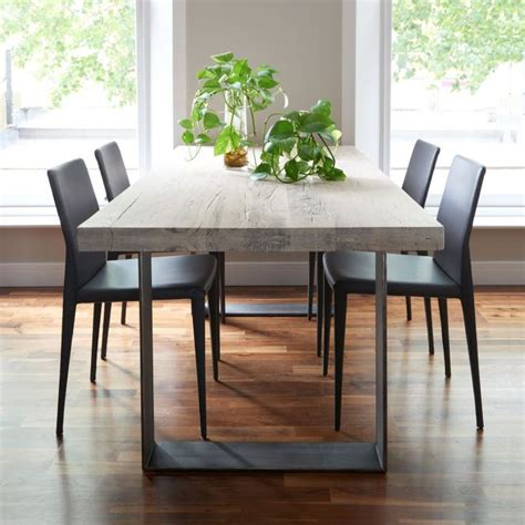 modern dining room table and chairs interesting metal and wood dining room table 29 in modern