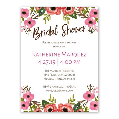 bridal shower invitations images blooming bridal shower invitation s bridal bargains