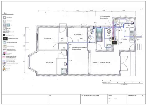 layout planning system planning and design bungalow project for plumbing