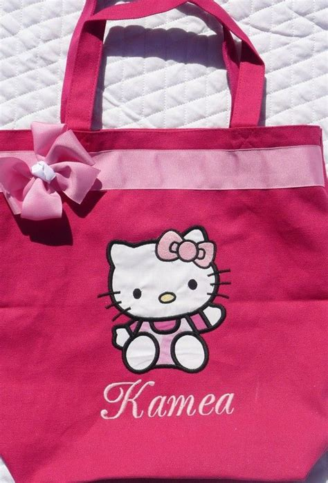kitty personalized tote bag  mydesertcutie  etsy