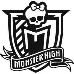 Wall sticker customization of monster high logo