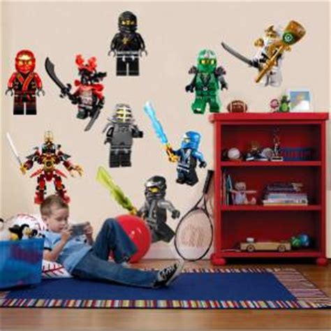 ninjago bedroom ninjago lego 9 characters decal removable wall sticker