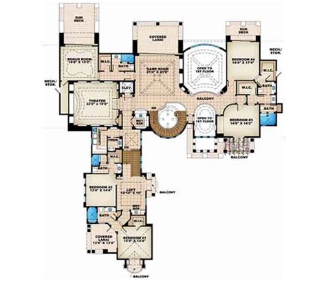 6 bedroom house plans luxury florida style house plans plan 55 116
