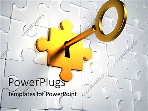 unlock powerpoint template powerpoint template golden key trying to unlock the
