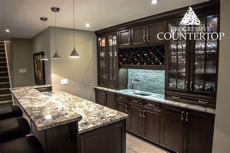 top basement bar cabinets repair basement bar furniture exotic alaska white granite counters eased edge counters