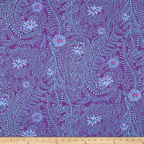Kaffe Fassett Home Decor Fabric by Kaffe Fassett Ferns Purple Discount Designer Fabric