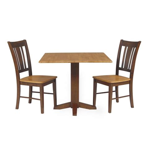 36 inch square dropleaf dining table bare wood
