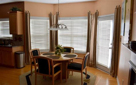 window treatments for bay windows in dining room dining room exciting images of dining room decoration