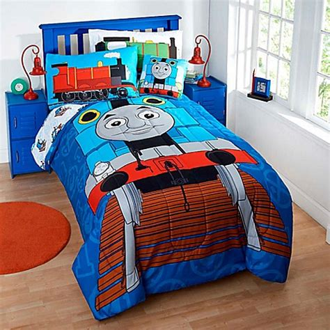 thomas the train bedding set thomas the tank engine reversible comforter set bedbathandbeyond com