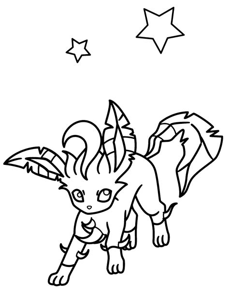 pokemon coloring pages of leafeon leafeon pokemon coloring pages www pixshark com images