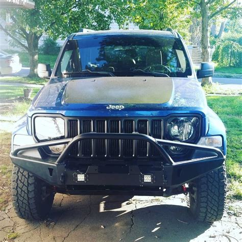 jeep winch bumper winch bumper for 08 12 jeep liberty kk at the helm