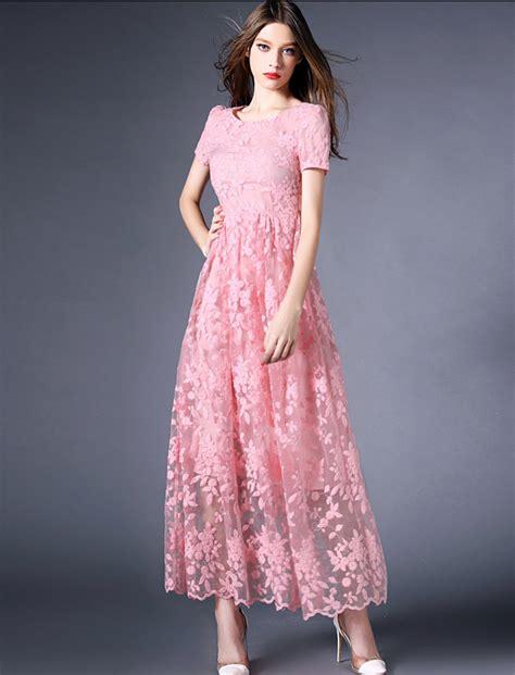 Dress Brukat Lace formal retro lace dress