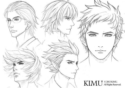 anime hairstyles for guys side view male face practice by kimuliao on deviantart manga
