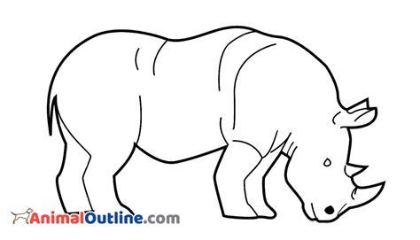 Rhinoceros Animal Outline @ AnimalOutline.Com