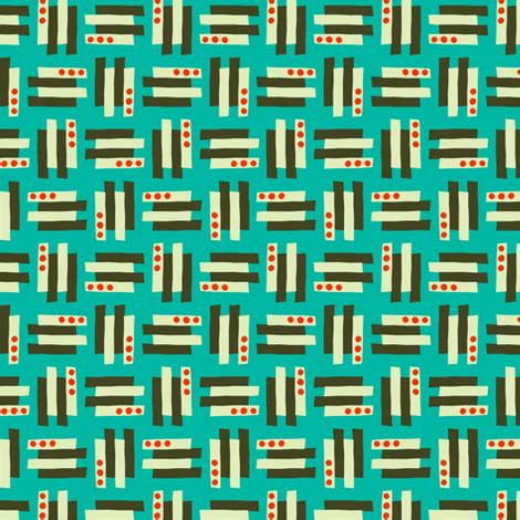 lilliput geo fabric zesti spoonflower
