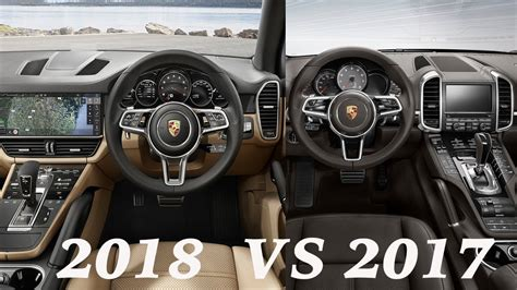porsche suv inside 2017 cayenne vs 2018 cayenne interior