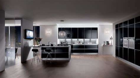 luxury modern kitchen designs 2013 home interior design sleek black contemporary kitchen interior design ideas
