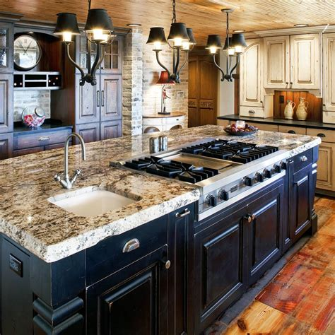kitchen island stove colorado rustic kitchen gallery jm kitchen denver