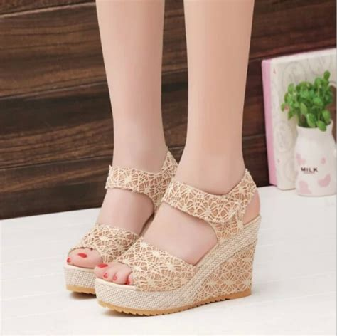 Sandal Wanita High Heels Gelang Sdh165 wedge sandals picture more detailed picture about shoes 2017 summer new open toe fish