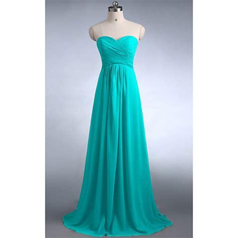 Floor Length Dresses Uk by Floor Length Sweetheart Chiffon Bridesmaid Dresses