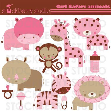Safitri Pink stockberry studio baby safari animals