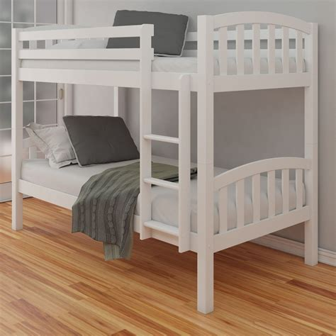 american bunk beds american white finish solid pine wooden bunk bed