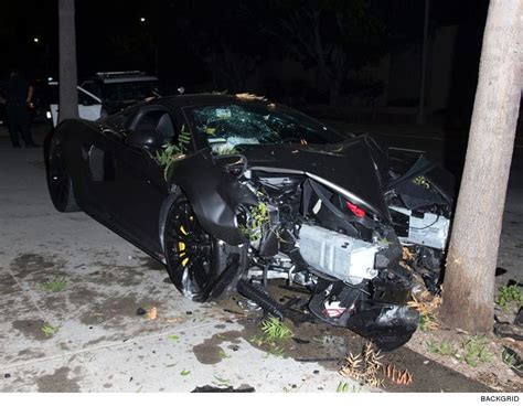 terrence j car hit and run terrence j s 200 000 mclaren totaled in