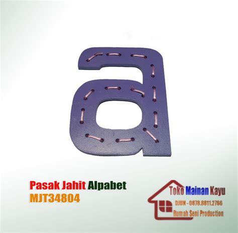 Mainan Edukasi Papan Jahit Kepiting papan jahit alphabet toko mainan kayu