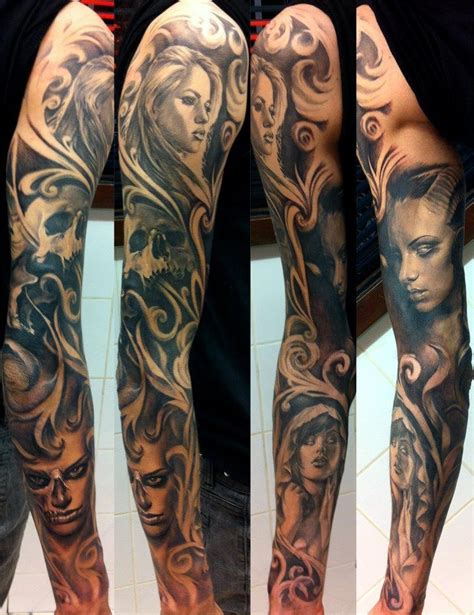 greek god sleeve tattoos black grey sleeve by nico athens