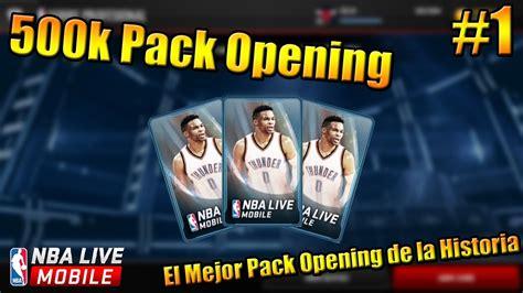 Pack Opening Mba Free by Nba Live Mobile Pack Opening 1 El Mejor 500k De La