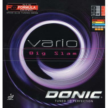 Donic Vario Big Slam Karet Bat Pingpong Bet Tenis Meja donic vario big slam table tennis rubber rubbers from tees sport uk