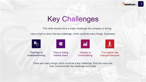 show challenges key challenges for the study analysis slidemodel