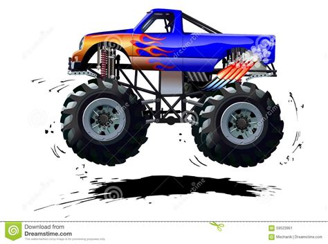 bigfoot monster truck cartoon cartoon monster truck stock vector image 59523961