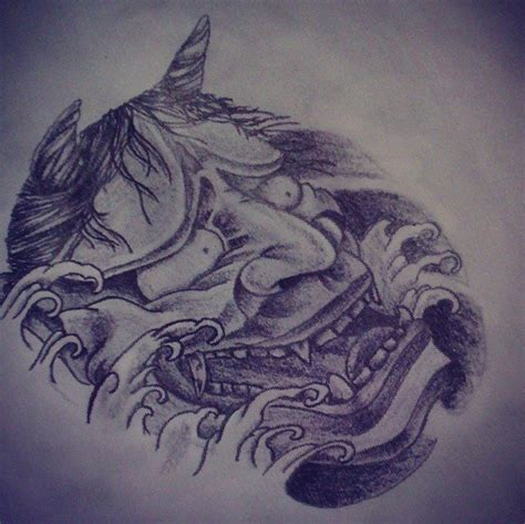 hannya mask tattoo deviantart japanese hannya mask tattoo design by dongedzo on deviantart
