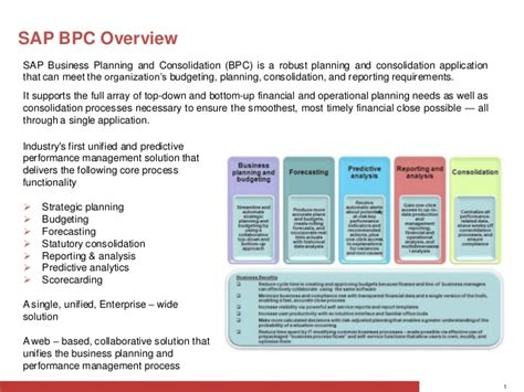 sap bpc overview