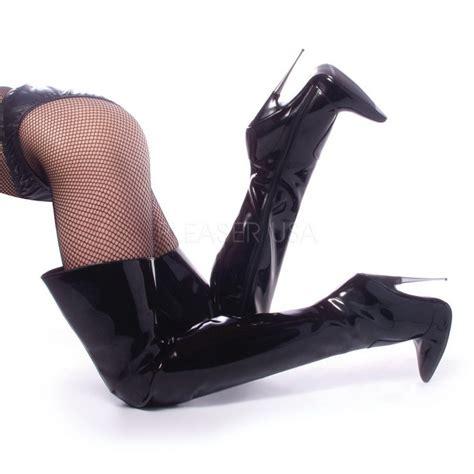 An Heels 5cm vinyl 15 5 cm scream 3010 overknee laarzen glimmend