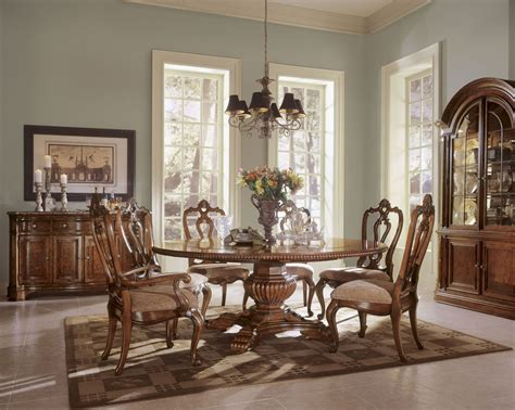 buy villa cortina rectangular table dining room set by villa cortina round single pedestal extendable dining room