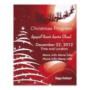 Christmas program flyers amp leaflets zazzle co uk