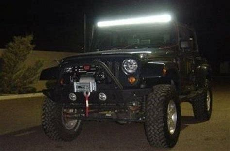 Led Light Bar For Jeep Rigid Windshield 50 Quot Led Light Bar Oiiiiio Badass Jeep Oiiiiio Led