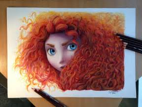colored pencil drawing merida color pencil drawing by atomiccircus on deviantart