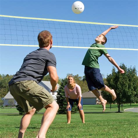 backyard volleyball set portable volleyball set for family cing beach net with