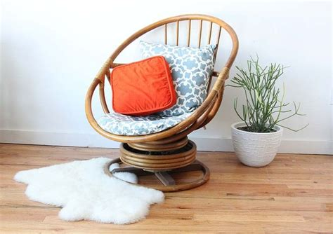 wicker egg chair cushion 70 s swivel upcycled chair search my home