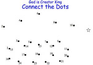 The dots appendix god is creator king connect the dots