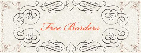 free wedding fonts and borders free calligraphy borders brushes and ps shapes by