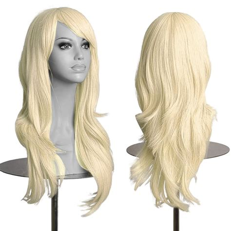 Wig Anime Anime hair wig curly wavy synthetic anime
