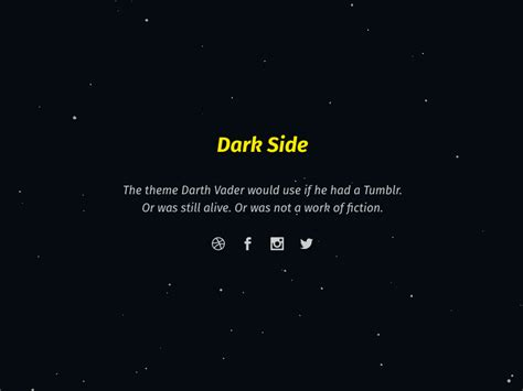Tumblr Themes With Quotes On Side | dark side free tumblr theme by edmundo santos dribbble